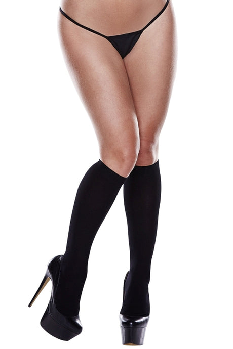 Sheer Black Knee Highs