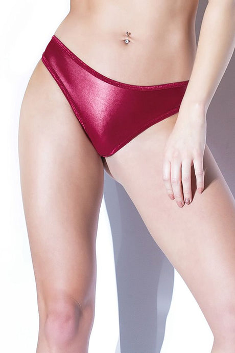 Forever Matte Merlot Wetlook Thong