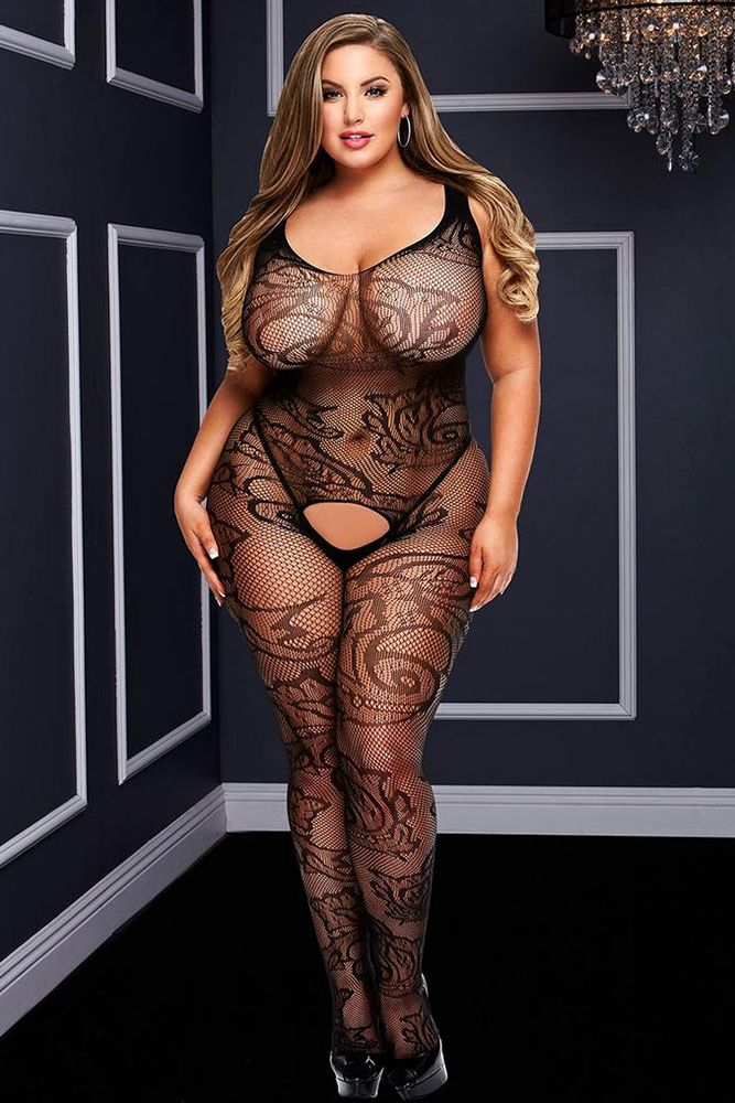 Filigree Lace Crotchless Bodystocking
