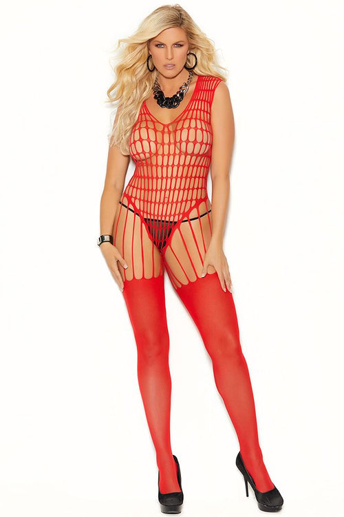 Take My Breath Crochet Net Bodystocking