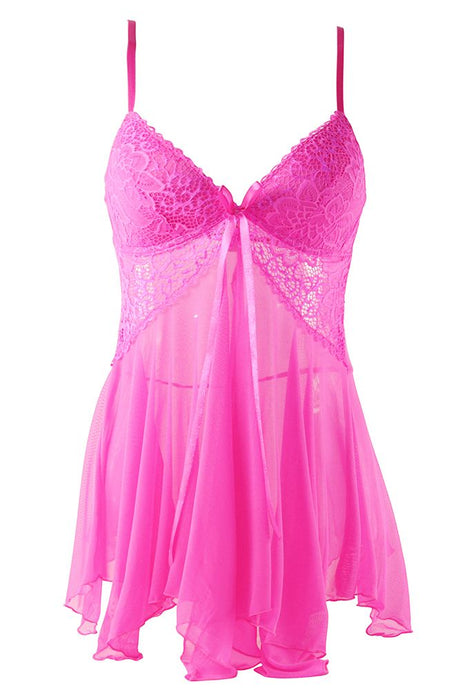 Pretty in Pink Babydoll Set