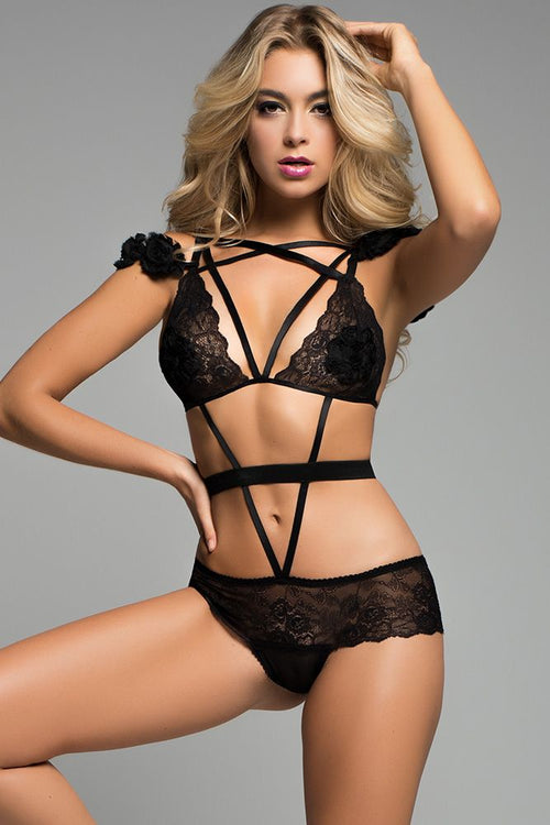 Freya The Black Rose Teddy