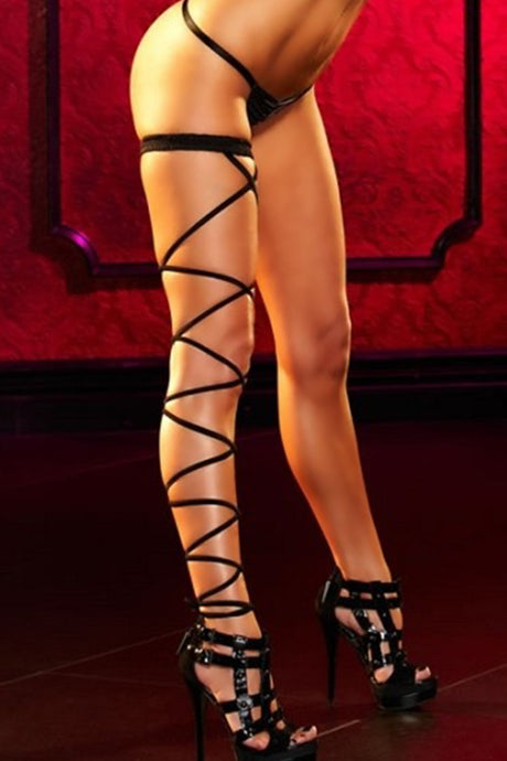 Black Lace-Up Sexy Garter