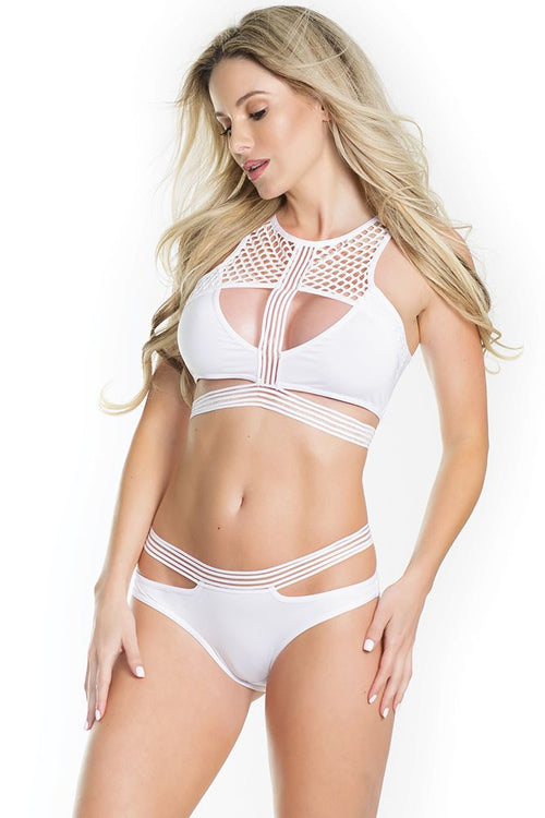 Let's Dance White Bralette & Panty