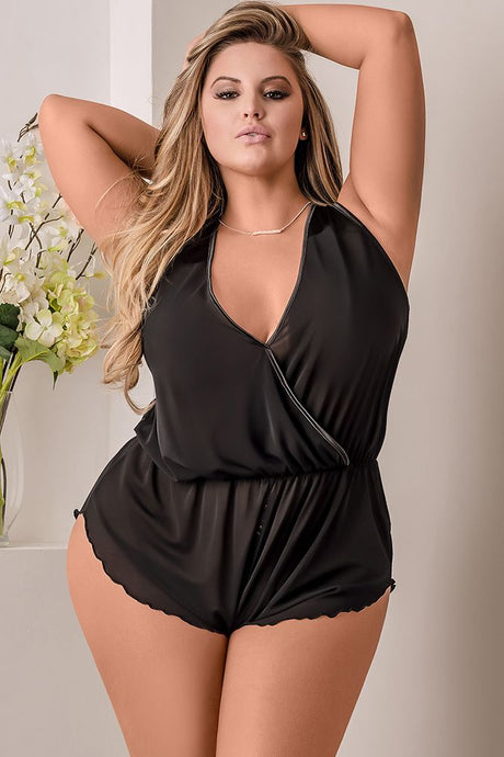 Simply Wicked Deep Plunge Romper