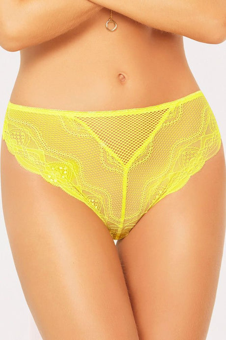 Net It Be Lace Lemon Panty