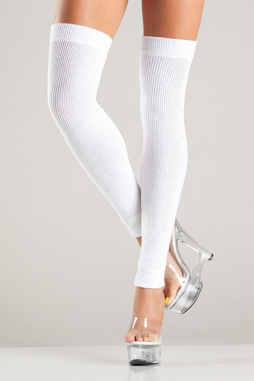 Righteous White Leg Warmers