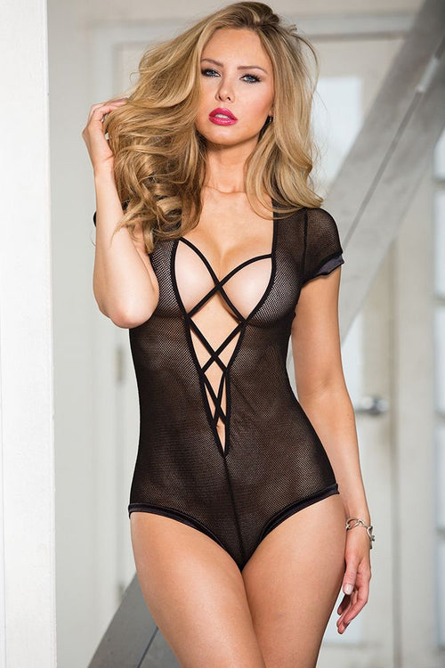 Stretch Fishnet Bodysuit