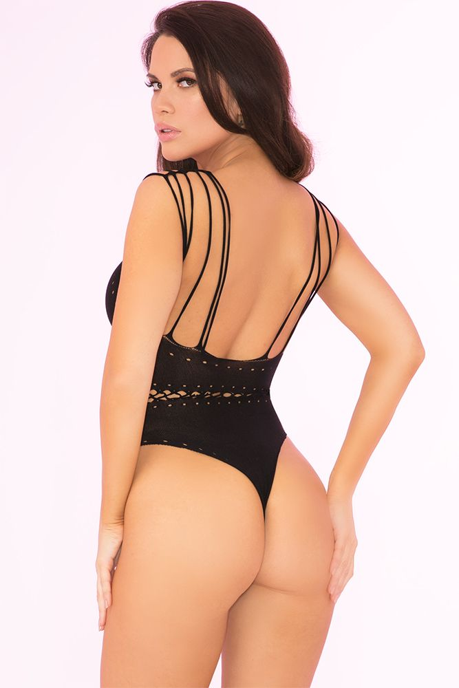 All Access Pass Black Bodysuit