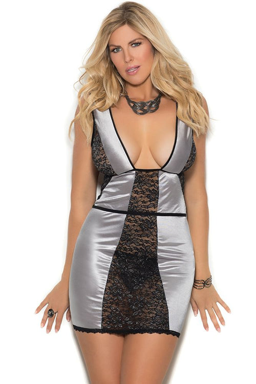 Silver Lining Peek-a-Boo Chemise