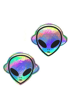 Beam Me Up Holographic Alien Pasties