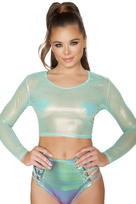 Green Opal Crop Top