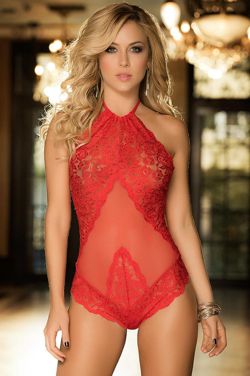 Journey into Sheer Red Teddy
