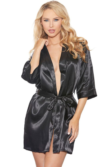 Satin Fever Black Robe