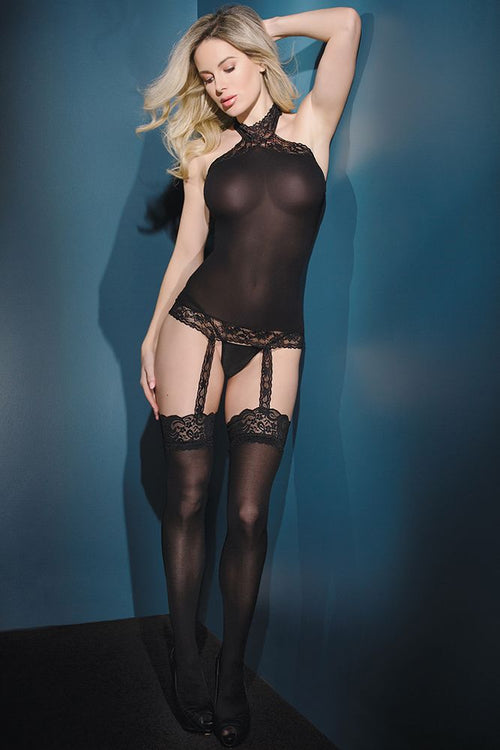 Sheer Round Bodystocking