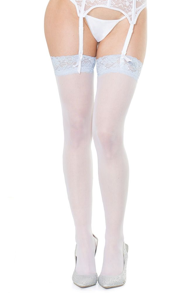 """I Do"" Rhinestone Thigh Highs"