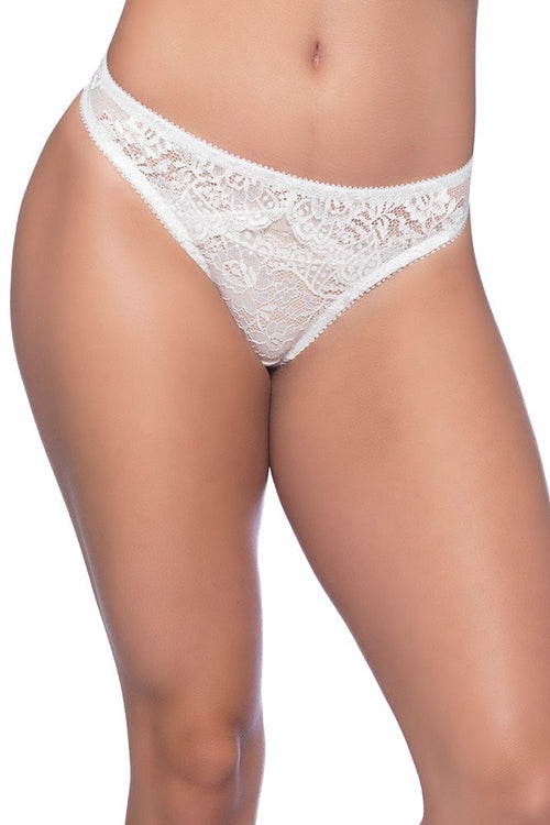 Whisper White Lace Thong