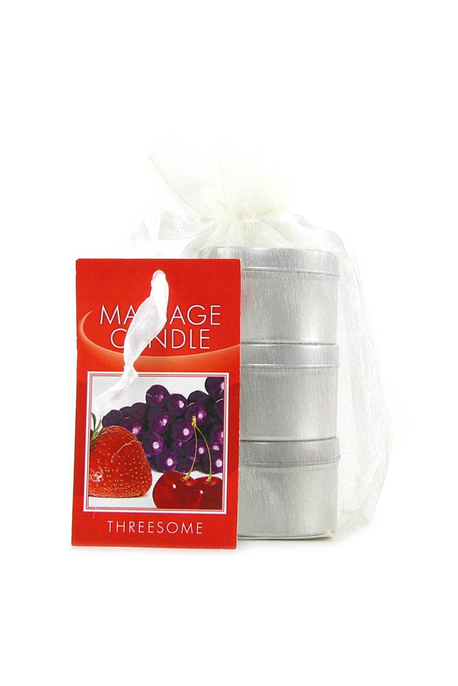 Edible Massage Oil Candle Threesome 2.0oz/57g