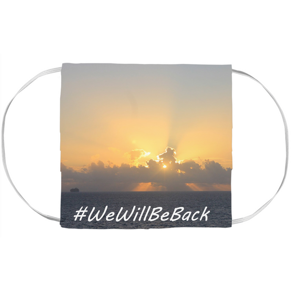 #WeWillBeBack Face Mask Cover