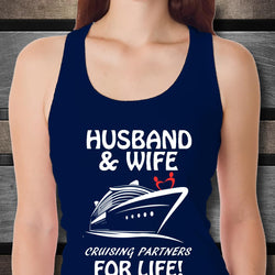 Husband and Wife Cruising Partners for Life Tank Top-Shirt / Hoodie-Cruise Crazy-Cruise Crazy