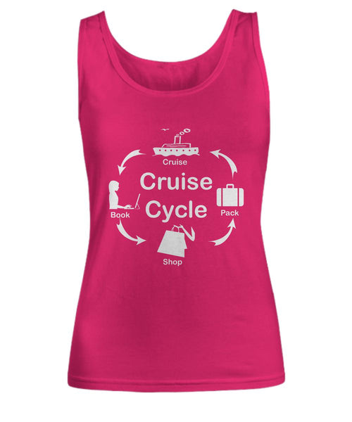 Cruise Cycle Woman's Tank Top-Shirt / Hoodie-Cruise Crazy-Women's Tank Top-Raspberry-sml-Cruise Crazy