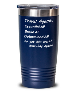 Travel Agents Get the World Traveling Tumbler