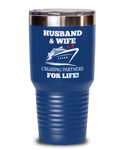Husband & Wife Cruising Partners for Life Tumbler