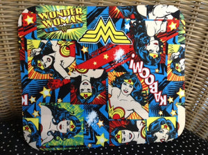 Fabric Computer Mousepad Made With Wonder Woman Fabric