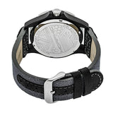 Morphic M47 Series Leather-Band Watch w/ Date - Grey/White MPH4701