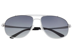 Breed Asteroid Titanium Polarized Sunglasses - Silver/Black