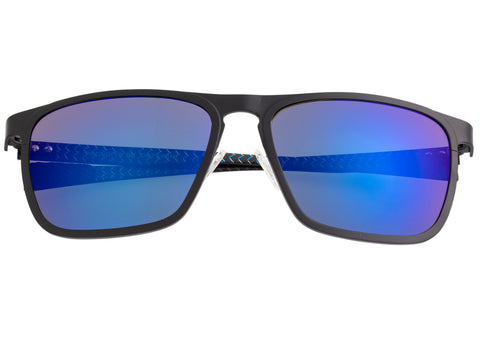 Breed Capricorn Titanium Polarized Sunglasses - Black/Blue BSG031BK