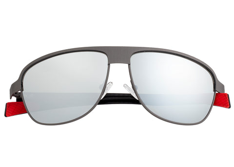 Breed Hardwell Titanium and Carbon Fiber Polarized Sunglasses - Gunmetal/Silver BSG007GM