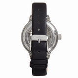 Empress Alice Automatic MOP Skeleton Dial Leather-Band Watch - Black EMPEM3201
