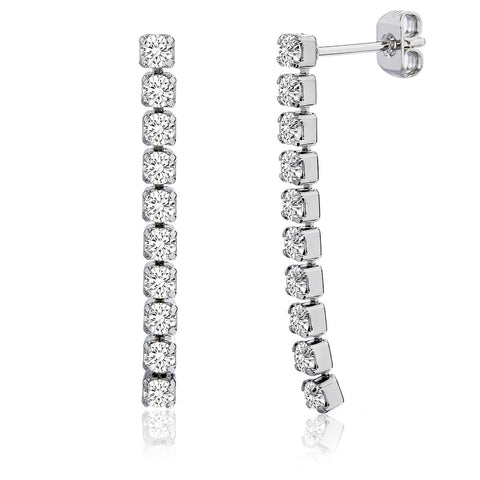 Bertha Juliet Women's 14k WG Plated Drop Down Fashion Earrings BRJ10133EO