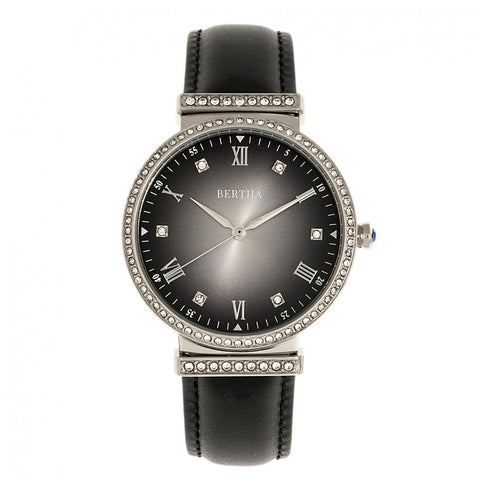 Bertha Allison Leather-Band Watch - Black BTHBR9301