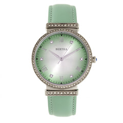 Bertha Allison Leather-Band Watch - Mint BTHBR9302