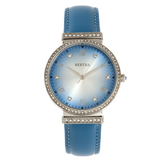 Bertha Allison Leather-Band Watch - Blue BTHBR9303