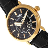 Heritor Automatic Mattias Leather-Band Watch w/Date - Gold/Black HERHR8404