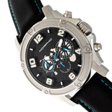 Morphic M73 Series Chronograph Leather-Band Watch - Silver/Black MPH7302