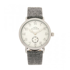 Elevon Northrop Leather-Band Watch - Grey/White