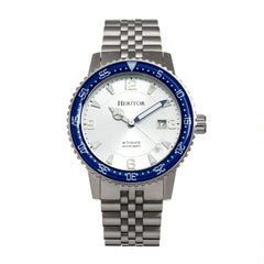 Heritor Automatic Dominic Bracelet Watch w/Date - Blue/Silver