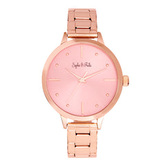 Sophie and Freda Milwaukee Bracelet Watch - Rose Gold/Mauve SAFSF5806