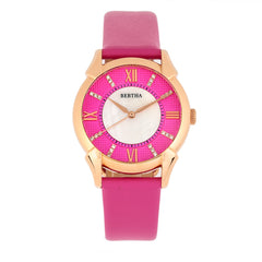 Bertha Ida Mother-of-Pearl Leather-Band Watch - Pink  - BTHBS1206 BTHBS1206