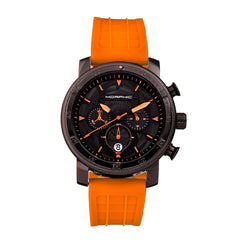Morphic M90 Series Chronograph Watch w/Date - Orange/Black