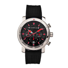 Morphic M90 Series Chronograph Watch w/Date - Black/Red