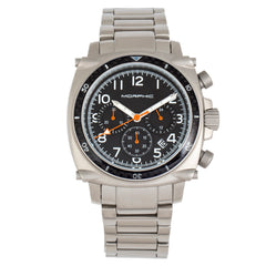 Morphic M83 Series Chronograph Bracelet Watch w/ Date - Silver/Black