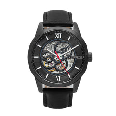 Heritor Automatic Jonas Leather-Band Skeleton Watch - Black - HERHR9506 HERHR9506