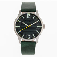 Morphic M77 Series Leather-Band Watch - Green