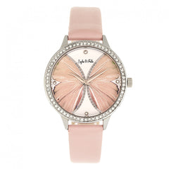 Sophie & Freda Rio Grande Leather-Band w/Swarovski Crystals - Silver/Light Pink