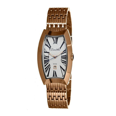 Bertha Laura Ladies Swiss Bracelet Watch w/Date - Rose Gold/White BTHBR3205